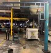 250 Lb. Gorbel Floor Standing Jib Crane w/ CM Air Hoist