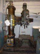 "4' x 13"" HMT Radial Drill, w/ Box Table"