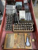 Lot of Misc Steel Pin Stamp Sets w/Cart