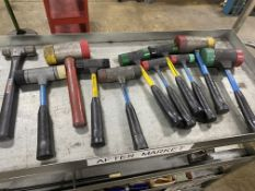 Lot of (11) Misc Size Soft Face Dead Blow Hammers
