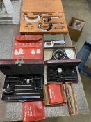 Lot of Starrett Measuring Tools