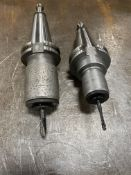 Lot of (2) CAT40 Tool Holders w/Quick Change Taps