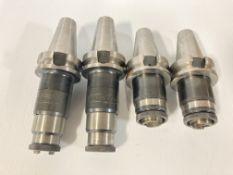 (4) BT40 Nikken Quick Change Tap Adapter Holders