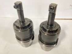 (2) HSK100A Command Tool Holders with ER8 Right Angle Milling Heads