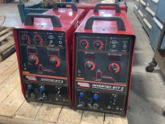 (2) Lincoln Electric Invertec STT II Multiprocess Welder