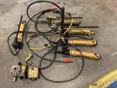 Lot of (5) Enerpac Porta Power Hydraulic Hand Pumps