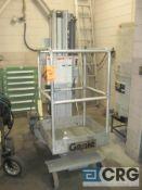Genie PL1-19 elecrtric personal lift, 300 lb. cap., 19' H. max, s/n 3706F