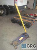 Lot of (3) 3 ton capacity hydraulic floor jacks