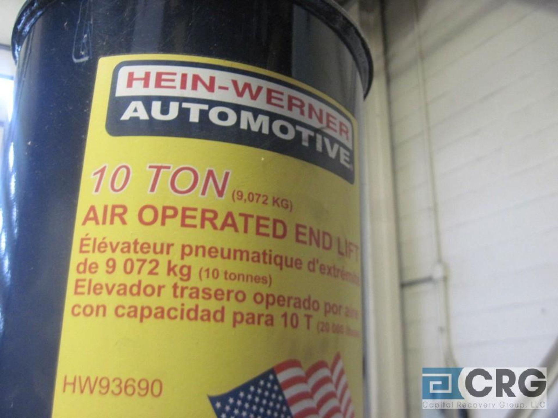 Hein Warner HW 93690 pneumatic truck lift, 10 ton cap., 13 1/2 58 1/2 H. range - Image 2 of 2