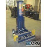 Hein Warner HW 93690 pneumatic truck lift, 10 ton cap., 13 1/2 58 1/2 H. range
