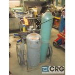 Lot of (2) acetylene cart w/hose and gauge - NO TANKS