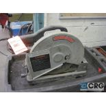 """Porter Cable 14"""" chop saw with cart, s/n 021774"""