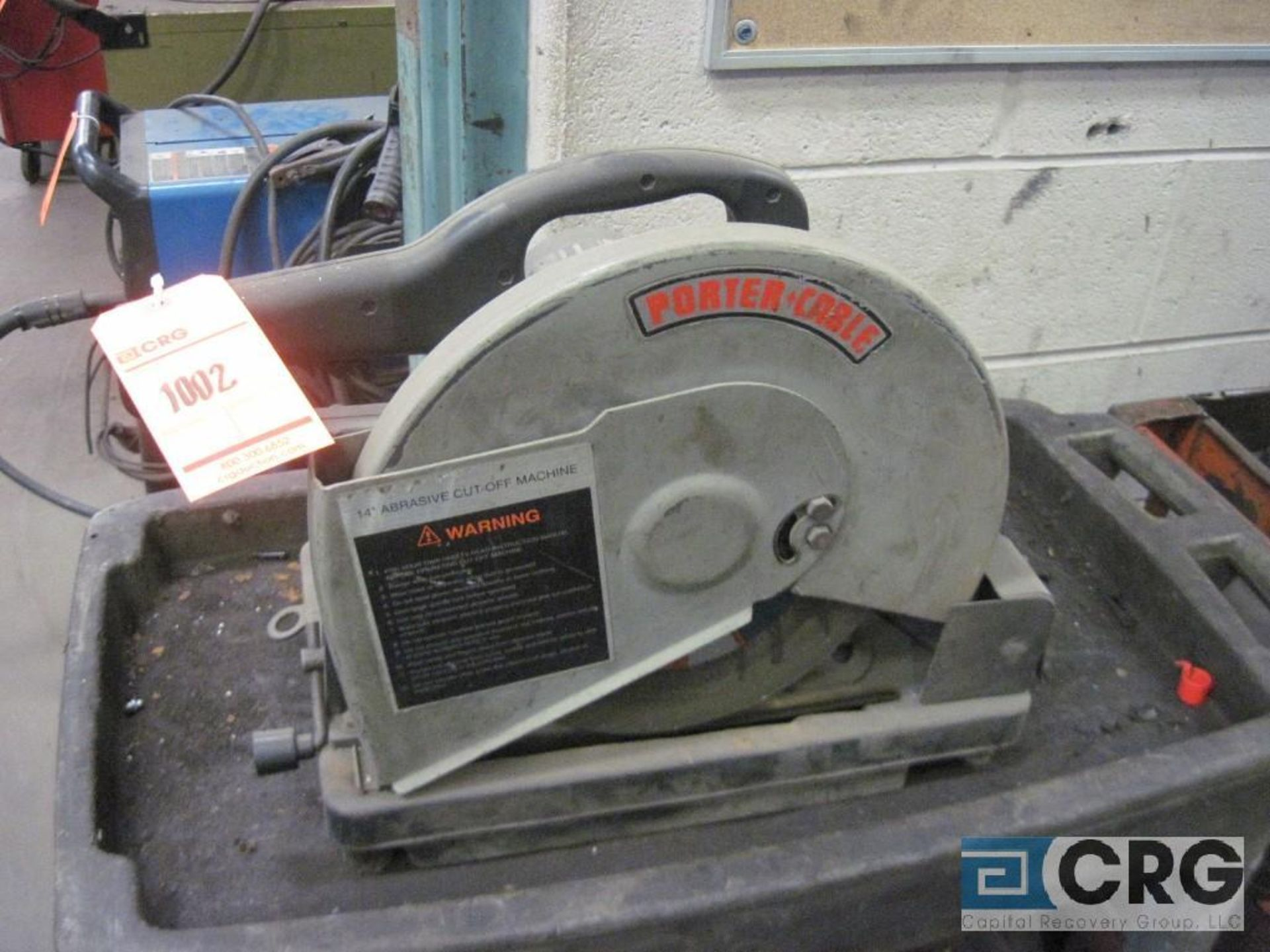 "Porter Cable 14"" chop saw with cart, s/n 021774"