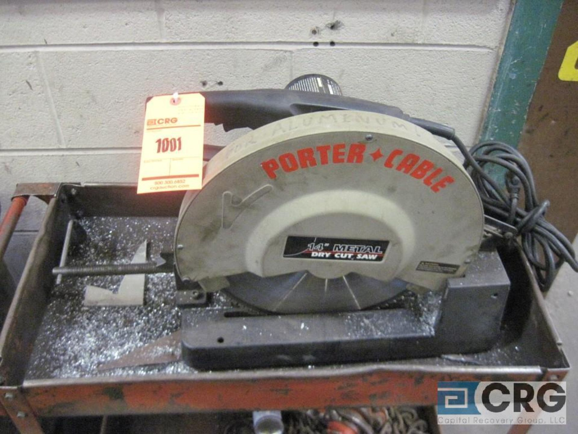 """Porter Cable 14"""" chop saw with cart, s/n 022795"""
