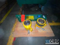 Simplex hydraulic pump, with (2) enerpac 50 ton jacks(Location: Finished Warehouse)