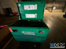Greenlee 686 cable puller, mobile in job box(Location: Finished Warehouse)