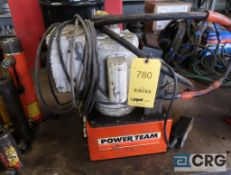 Power Team hydraulic power unit with 1 1/2 HP motor (Pipe Shop)