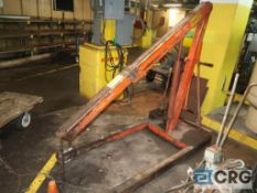 Hydraulic engine hoist, 2,000 lb. capacity, mobile (Basement)