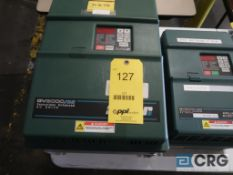 Lot of (2) Reliance GV3000/SE sensorless enhanced variable frequency drives, (1) 75 HP, and (1) 20