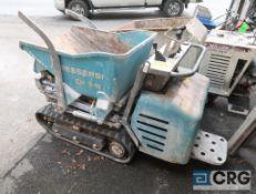 Messeri CH 2-N track dumper, 503 hours, diesel, walk behind power track dumper (Upper Wood Yard)