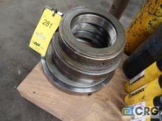 Lot of hydraulic nuts in (4) assorted sizes (Basement Main Shop)