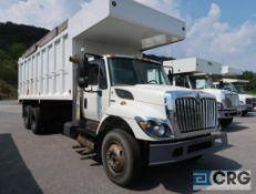 2018 International 7400 SBA dump truck, regular cab, 2 WD, AT, diesel, 22 ft x 8 ft dump box, tandem