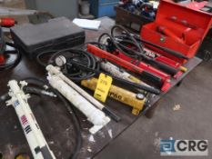Lot of (7) assorted hydraulic pumps (Basement Main Shop)