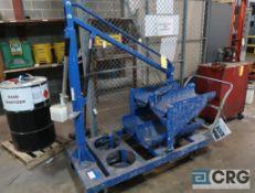 LPG hydraulic tank lift on wheels (Forklift Shop)