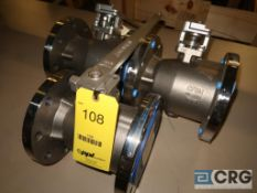 Lot of (3) Jamesbury 316 stainless 4 in. ball valves, 275 psi @ 100 degrees F (Loading Area)