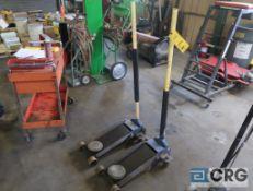 Lot of (2) NAPA hydraulic floor jacks, 10 ton cap. (Maintenance Shop)