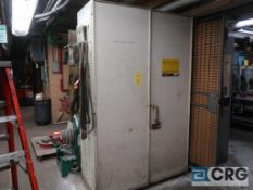Lot of assorted cabinets and lockers including (3) metal cabinets, and (6) lockers with assorted