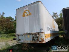 1990 Fruehauf dry van trailer, 45 ft., VIN #1H2V04527LB043502, Trailer #23 (Lower Wood Yard)