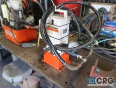 Power Team hydraulic power unit with 1/2 HP motor (Pipe Shop)