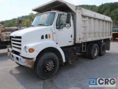 2001 Sterling dump truck, regular cab, CAT turbo model #3126 engine, AT, 77,645 miles, 18 ft x 7.5