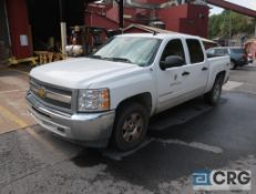 2012 Chevrolet 1500 Silverado pickup truck, crew cab, 4 X 4, 5.3L V8 engine, AT, 70,825 miles,