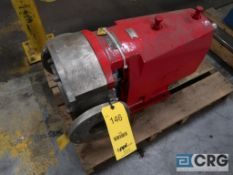 Waukesha 4 in. stainless positive displacement pump (Loading Area)