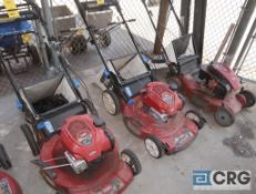 Lot of (3) Toro 22 in. gas powered lawn mowers (Shop 1)