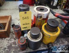 Lot of (8) hydraulic jacks, with assorted tonage capacities (Maintenance Shop)