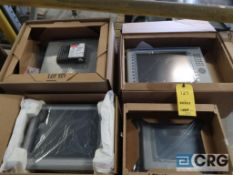 Lot of (4) Allen Bradley touch screens, (1) Panel View Plus 1500 and (1) 1000, and (2) Panel View