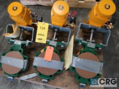 Lot of (3) Fisher 4 in. stainless pneumatic ball valves (Loading Area)
