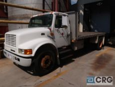 1999 International 4700 DT466E stakebed truck, regular cab, 2WD, International turbo model #B190