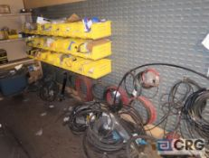 Lot of assorted parts on mezzanine including fuel, oil, and air filters, hoses, fittings, (2)
