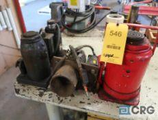 Lot of (4) hydraulic bottle jacks (Maintenance Shop)