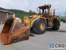 1995 Caterpillar 980F wheel loader, with Rockland dual cylinder roll out 148 in. bucket with