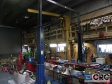 Worth 12000 CFS hydraulic 2 post car lift with extra motor, 12,000 lb. cap., 170 in. H overall, s/