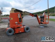 2012 JLG E300-AJP manlift, 500 lb. cap., platform height 30 ft., hort. length 20.5 ft., 48 volt, s/n