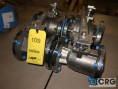 Lot of (4) Jamesbury 316 stainless 3 in. ball valves, 275 psi @ 100 degrees F (Loading Area)