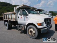 2002 Ford F650 XL Superduty dump truck, regular cab, 2WD, International turbo model #8191 engine,