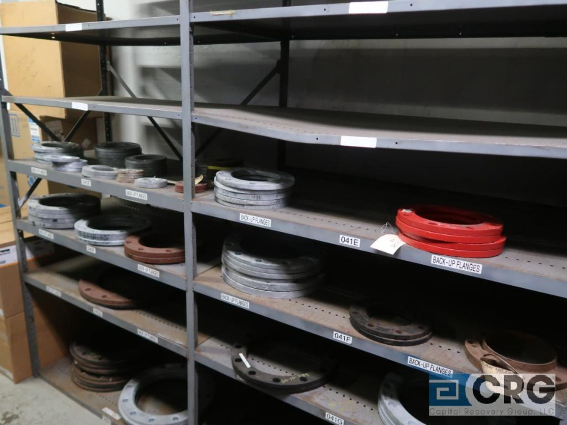 Lot of (15) sections with assorted parts including fiberglass pipes, fittings, steel fittings, tee' - Image 6 of 11