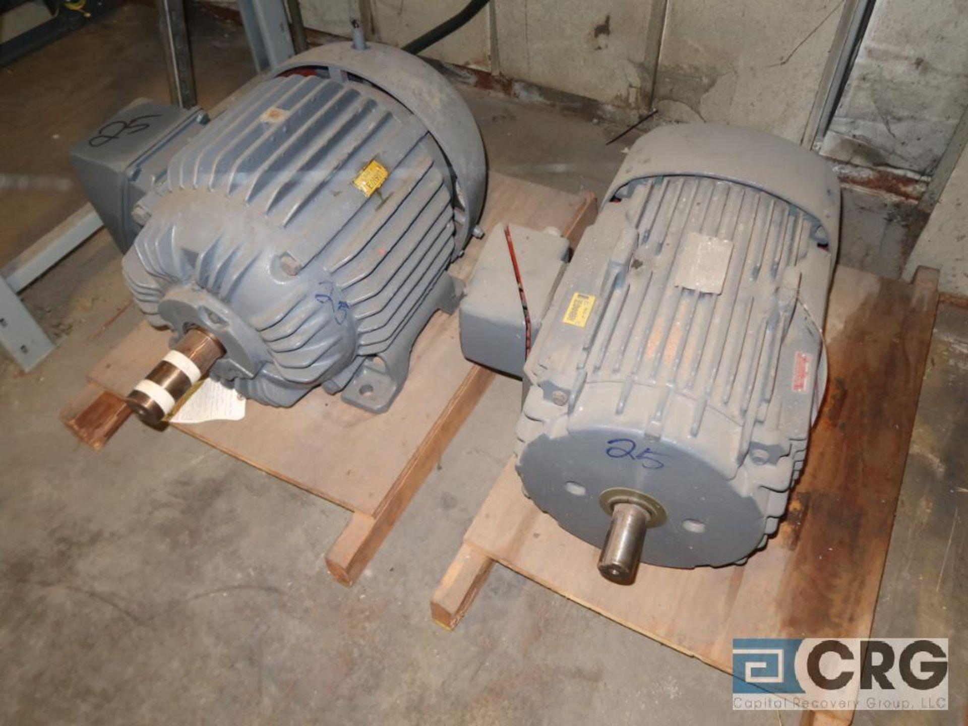 Lot of (4) assorted 25 HP motors (Motor Building) - Image 2 of 2